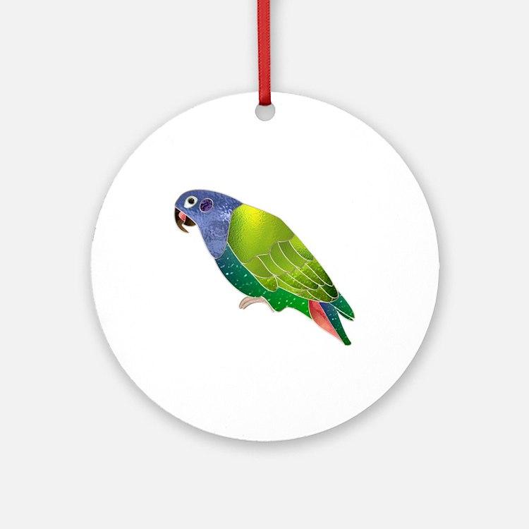 Stained Glass Pionus Parrot Keepsake (Round)