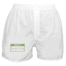 My Name Is Uncle To Be (Green) Boxer Shorts