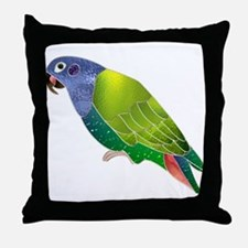 Stained Glass Pionus Parrot Throw Pillow