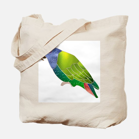 Stained Glass Pionus Parrot Tote Bag