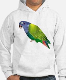 Stained Glass Pionus Parrot Hoodie