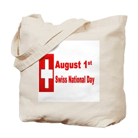 August 1st Swiss National Day Tote Bag