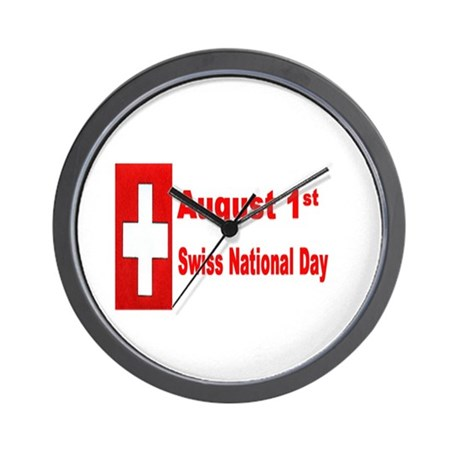 August 1st Swiss National Day Wall Clock
