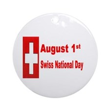 August 1st Swiss National Day Ornament (Round)