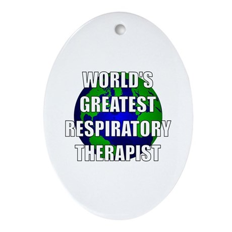 World's Greatest Respiratory Oval Ornament