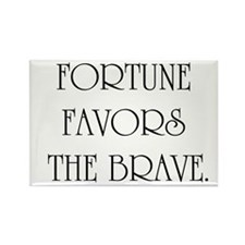 Fortune favors Rectangle Magnet