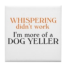 Dog Yeller Tile Coaster