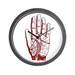 Astrological Palm Map Wall Clock