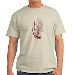 Astrological Palm Map Light T-Shirt
