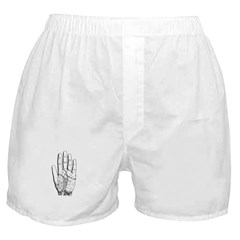 Astrological Palm Map Boxer Shorts