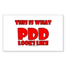 This Is What PDD Looks Like Rectangle Decal