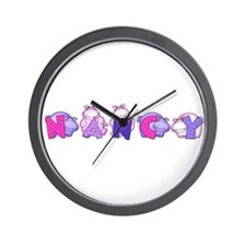 Nancy in Hippos Wall Clock