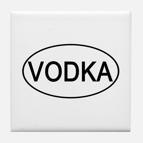 Vodka Euro Oval white Tile Coaster