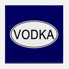 Vodka Euro Oval blue Tile Coaster
