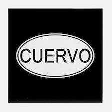 Cuervo Euro Oval black Tile Coaster