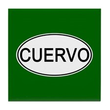 Cuervo Euro Oval green Tile Coaster