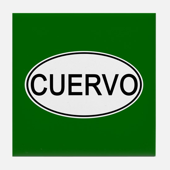 Cuervo Euro Oval green Tile Coaster