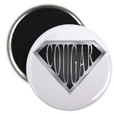 "SuperCougar(metal) 2.25"" Magnet (100 pack)"