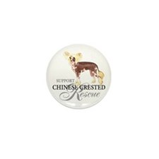 Chinese Crested Rescue Mini Button (10 pack)