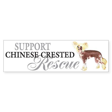 Chinese Crested Rescue Bumper Sticker