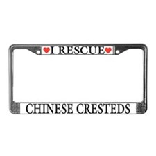 Chinese Crested Rescue License Plate Frame