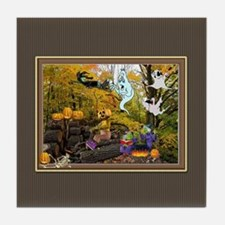 Witches Ghosts Pumpkins Tile Coaster