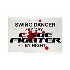Swing Dancer Cage Fighter by Night Rectangle Magne