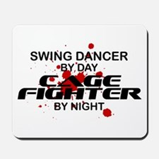 Swing Dancer Cage Fighter by Night Mousepad