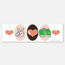 Peace Love Run Runner Bumper Bumper Bumper Sticker
