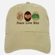 Peace Love Run Runner Baseball Baseball Cap
