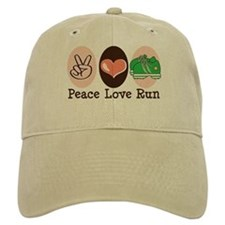 Peace Love Run Runner Baseball Cap