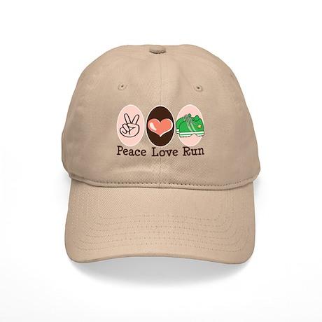 Peace Love Run Runner Cap