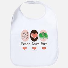 Peace Love Run Runner Bib