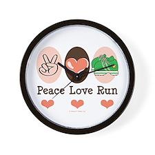Peace Love Run Runner Wall Clock