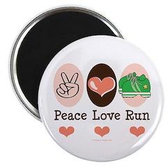 Peace Love Run Runner Magnet