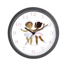 Ballerina(black) Wall Clock