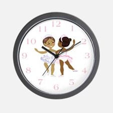 Ballerina(black) Wall Clock