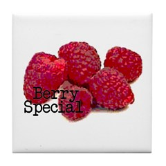 Berry Special Raspberries Tile Coaster