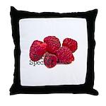 Berry Special Raspberries Throw Pillow