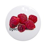 Berry Special Raspberries Ornament (Round)