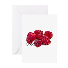 Berry Special Raspberries Greeting Cards (Pk of 20