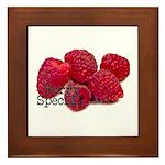 Berry Special Raspberries Framed Tile