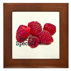 Berry Special Raspberries Framed Tile