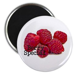 "Berry Special Raspberries 2.25"" Magnet (10 pa"