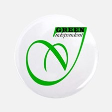 "GREEN INDEPENDENT 3.5"" Button"