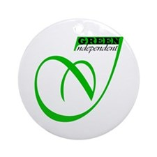 GREEN INDEPENDENT Ornament (Round)