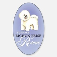Bichon Frise Rescue Oval Decal