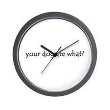 your dog ate what? Wall Clock