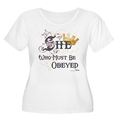 Obeyed Women's Plus Size Scoop Neck T-Shirt