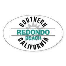 Redondo Beach Oval Decal